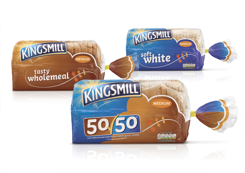 Pic.: Kingsmill products in a new packaging