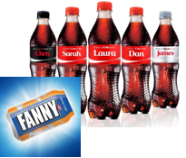 Pic.: Coca-Cola personalized bottles, UK