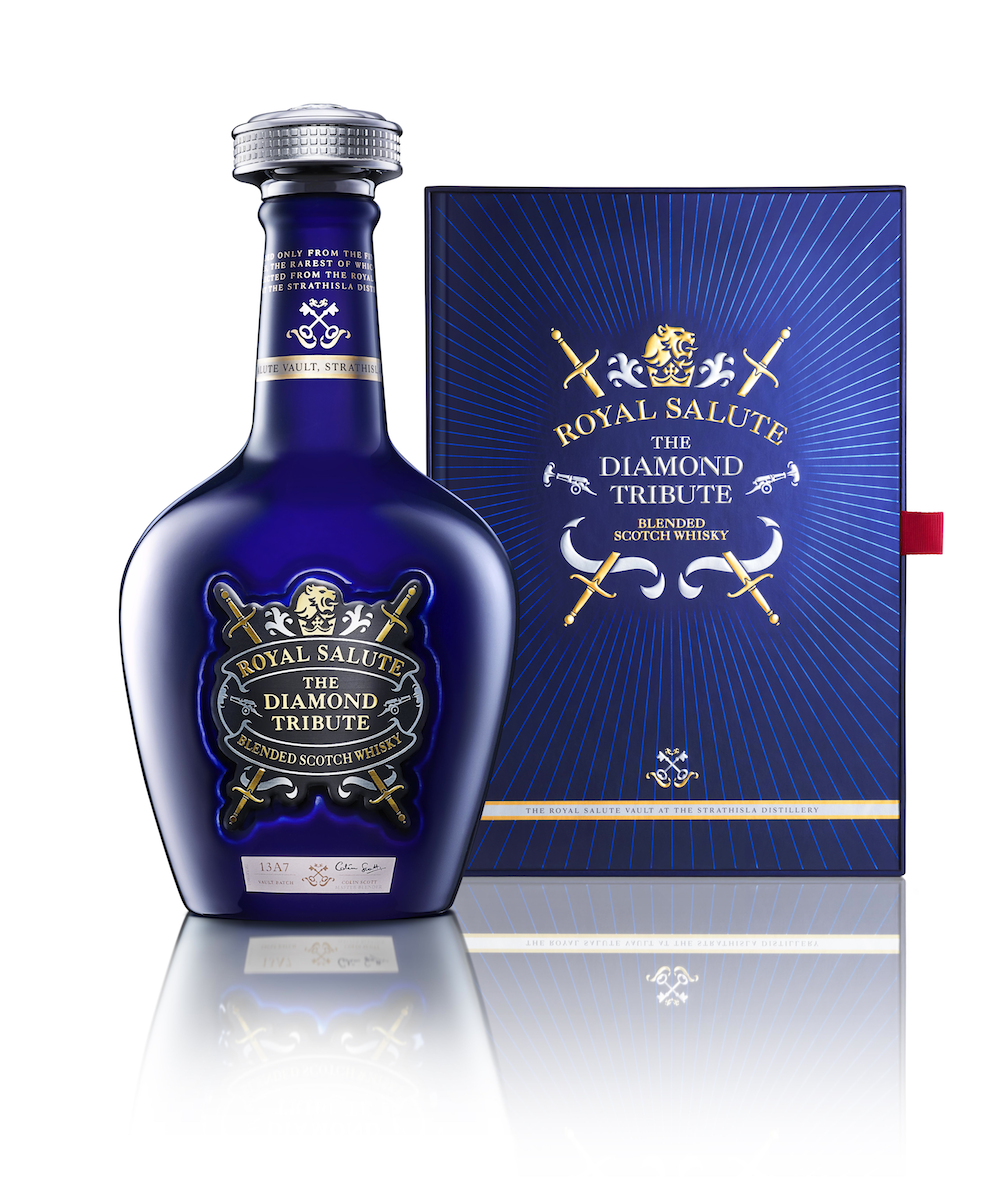 Photo: Commemorative packaging for Royal Salute, designed by CPB