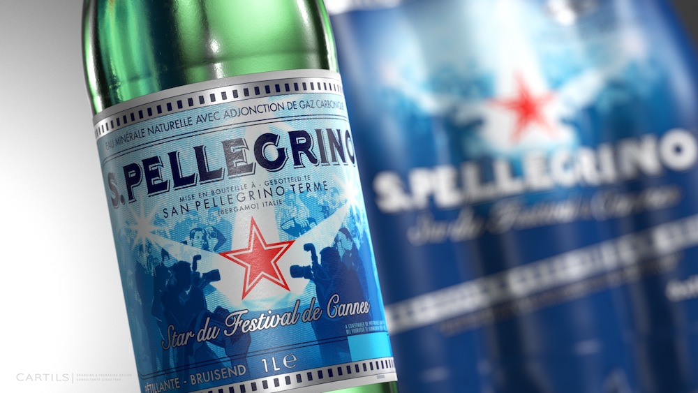 """Photo: S. Pellegrino """"Star of the Cannes Film Festival"""" limited edition, closeup"""