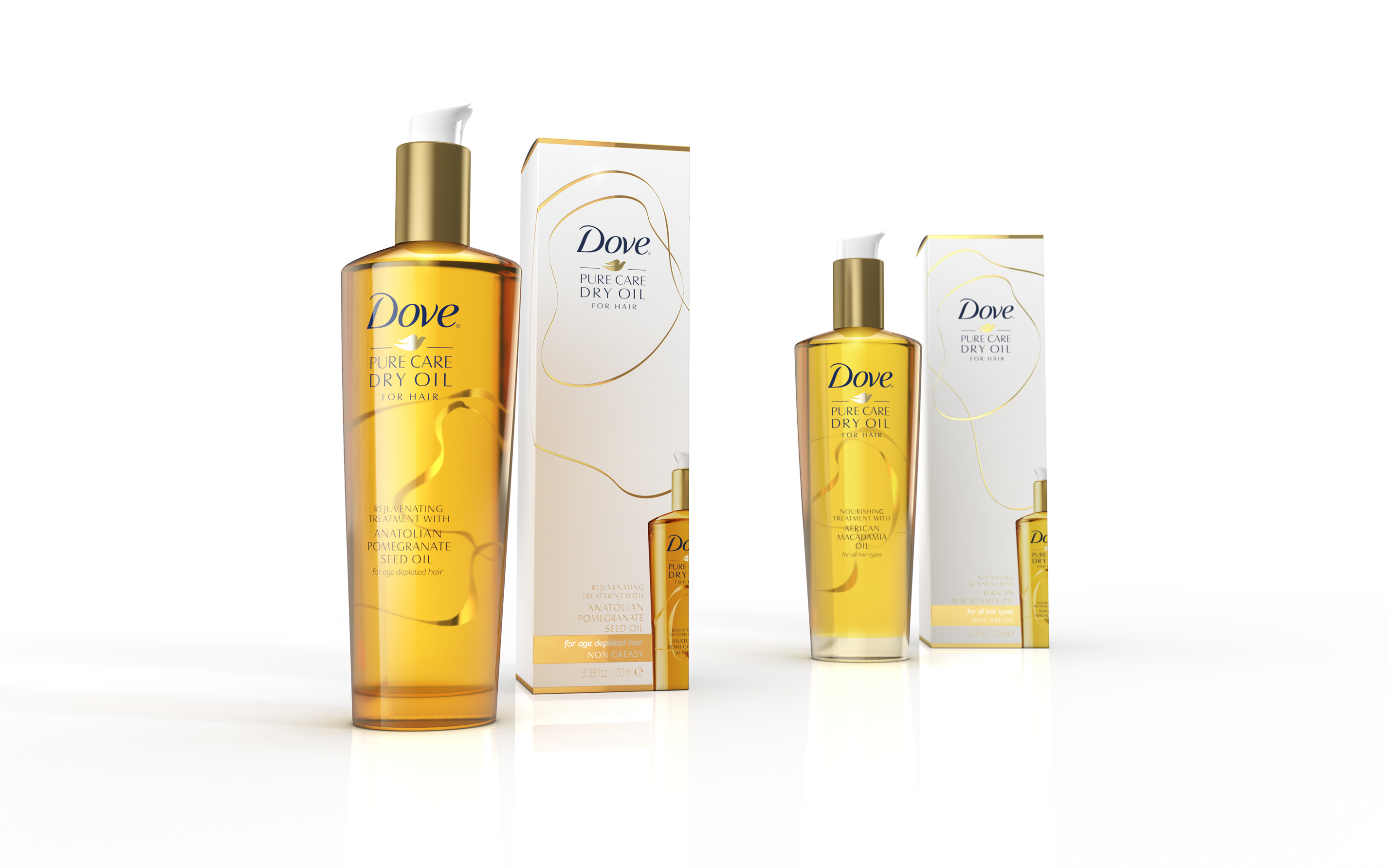 Photo: New Dove's hair care range