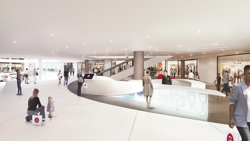 Pic. Interior of the new Beaugrenelle shopping mall in Paris