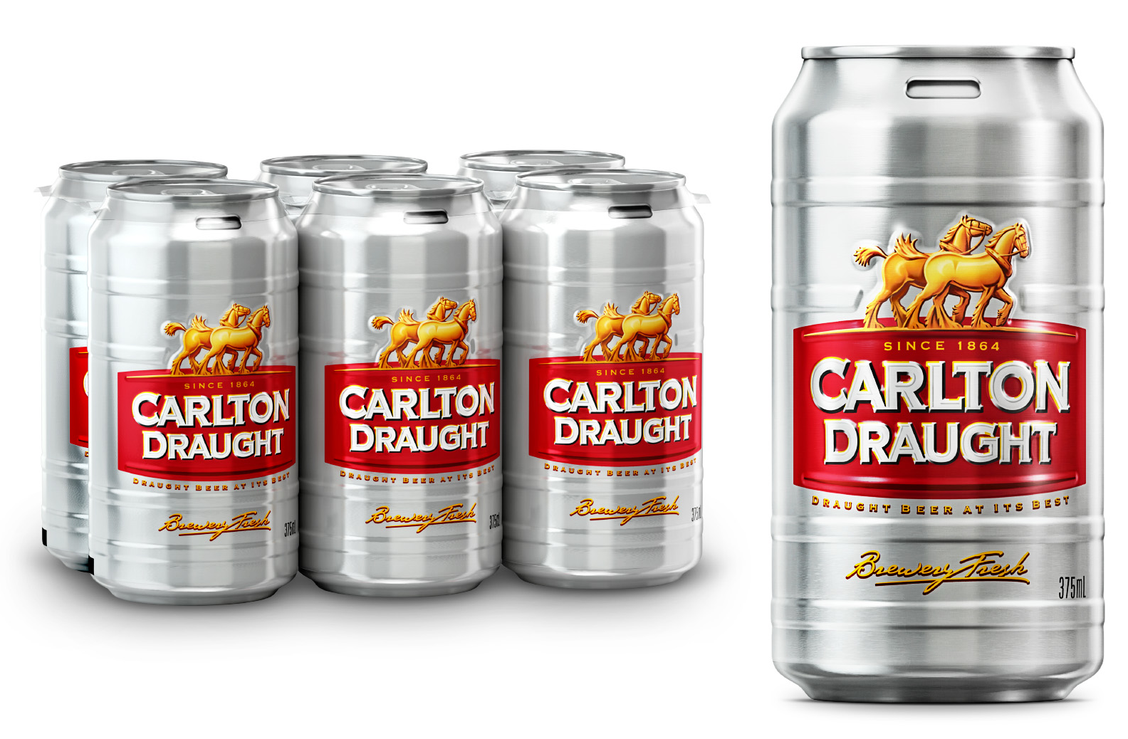 Photo: Carlton Draught new cans