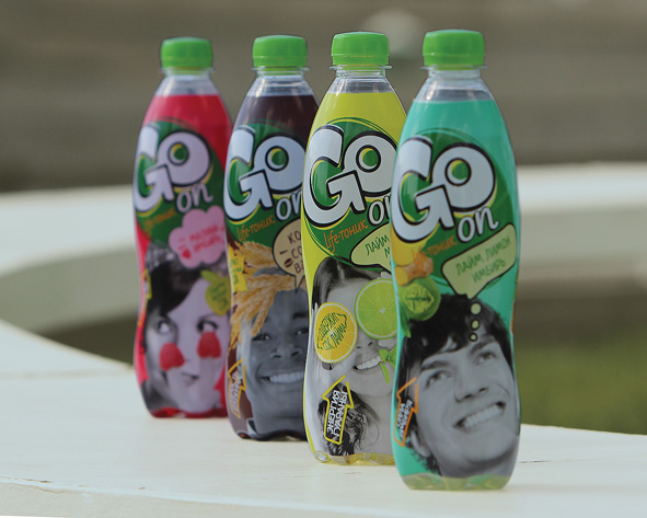 "Photo: GO, a new ""life tonic"" brand in Russia"