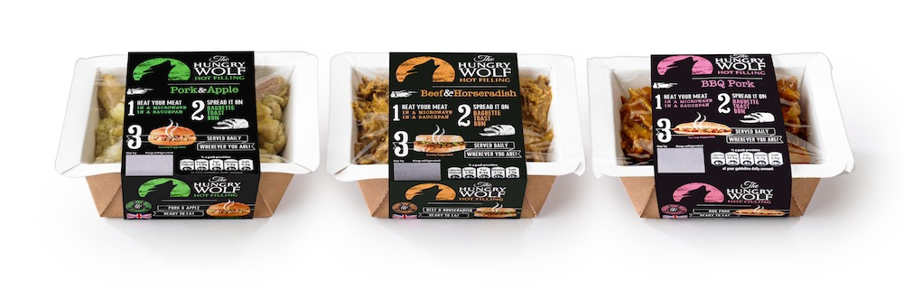Photo: The Hungry Wolf range, packaging designed by CPB
