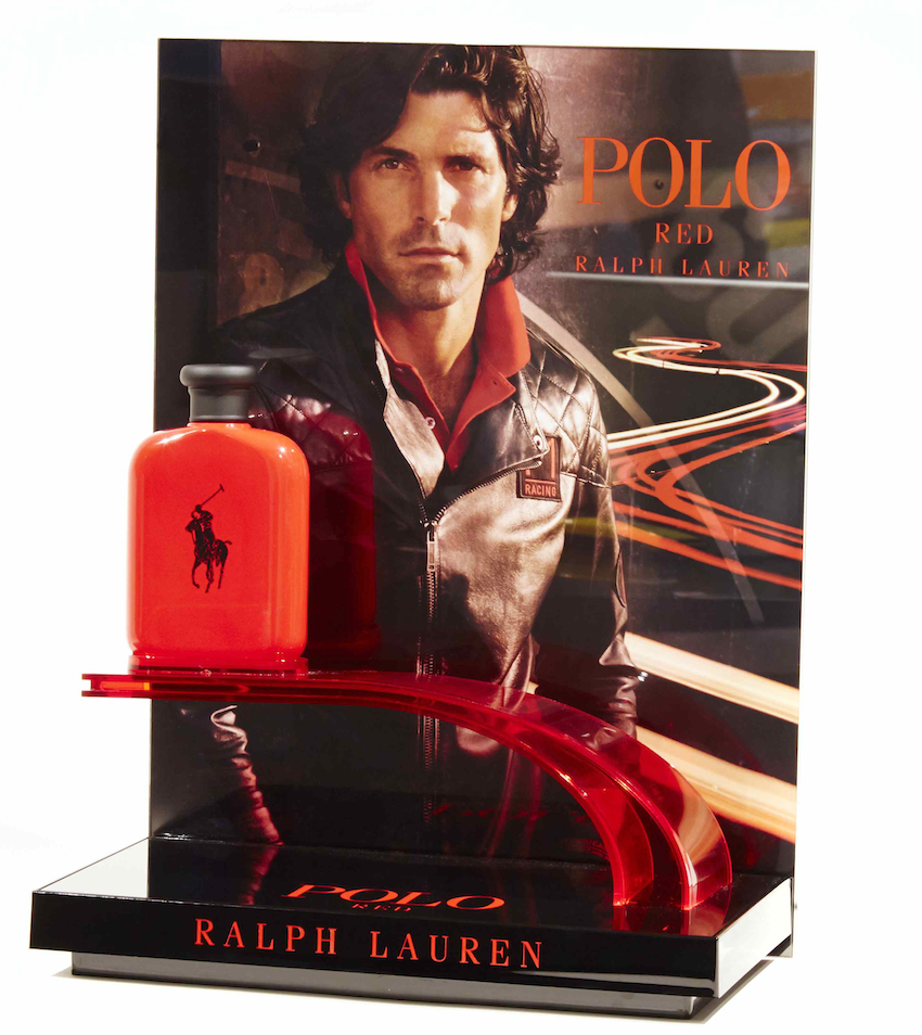 Photo:  Display for the Polo Red Palph Lauren men's fragrance