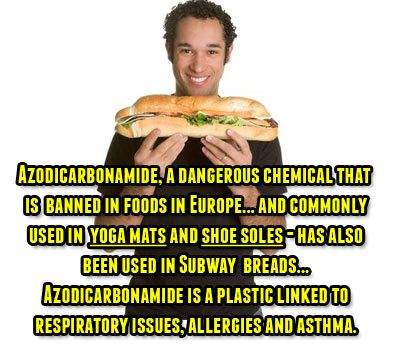 Photo: Subway discontinued bread products containing a harmful chemical in the US. Photo credit: www.selfsustainablelife.com