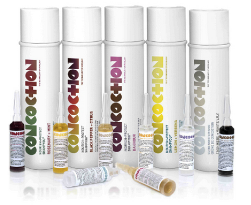 Photo: Concoction hair range