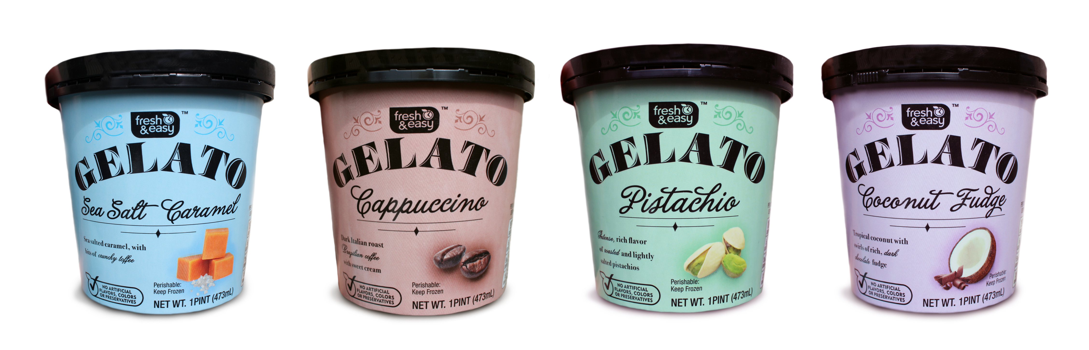 Photo: Fresh and Easy's new 'gelato' range