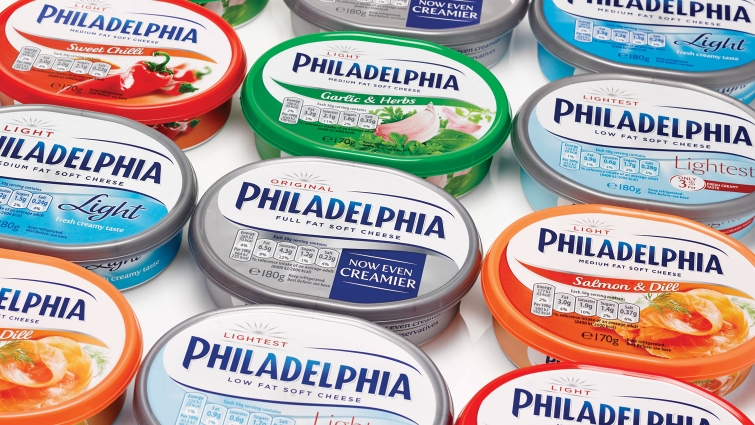 Photo: Philadelphia's refreshed logo and packaging for the European market