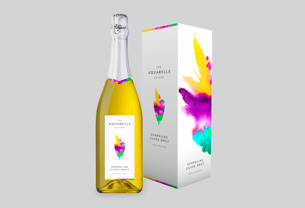 Pic. Package design for Aquarelle Wines for export