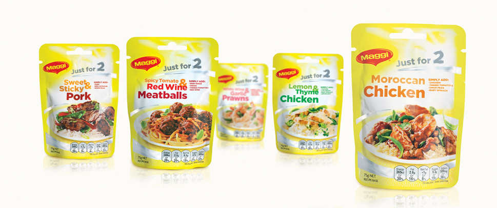 "Photo: Nestle's ""Maggie for two"" packaging"