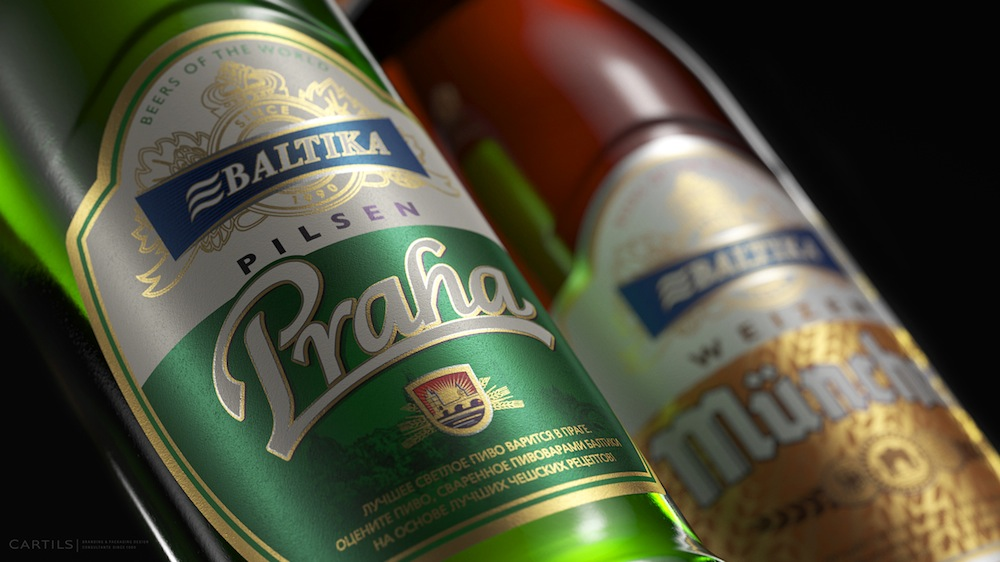 Photo: Carlsberg's Baltika Praha and Baltika Munchen