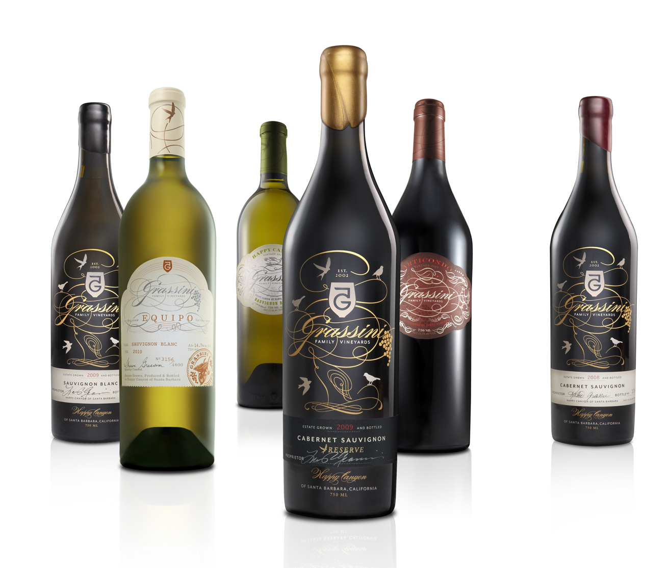 Pic. Package design for Grassini Family Vineyards' wine range