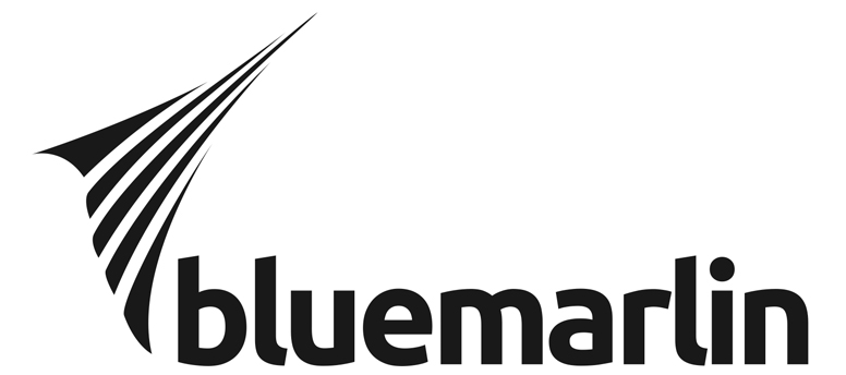 Photo: New bluemarlin's black-and-white logo