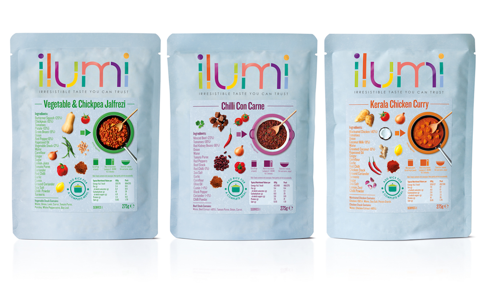 Photo: visual identity and packaging for a new non-allergic food brand ilumi