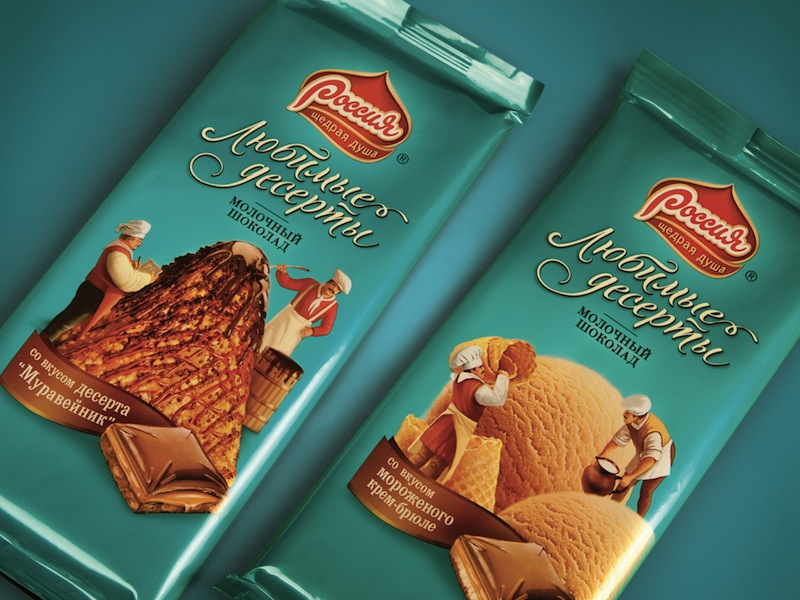 Photo: Nestle's chocolate desserts in Russia