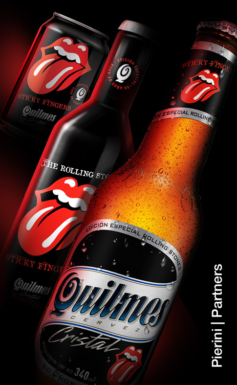 "Pic. Quillmes beer, "" The Rolling Stones"" edition"