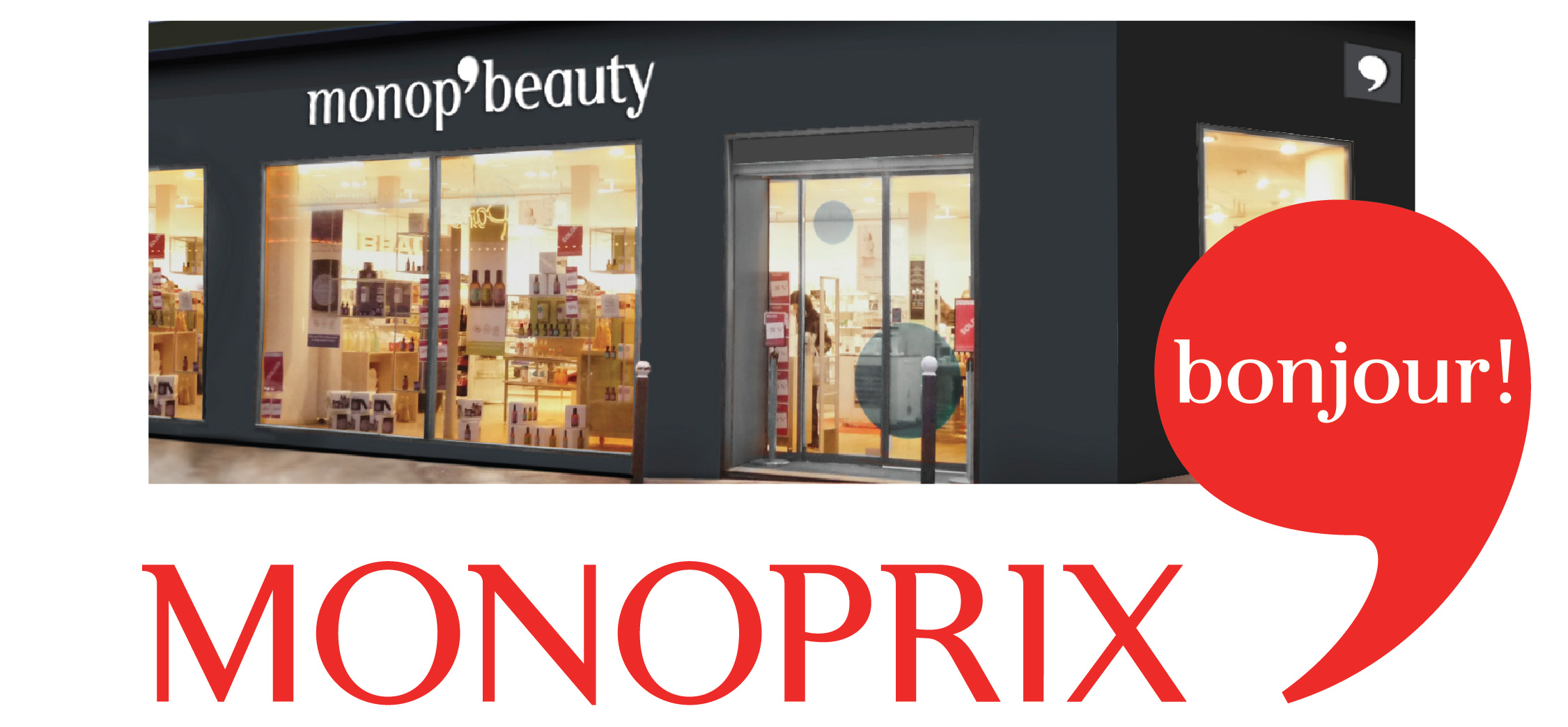 Photo: New identity of the Monoprix, a French retailer