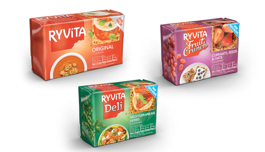 Pic.: new package design for Ryvita Crispbreads