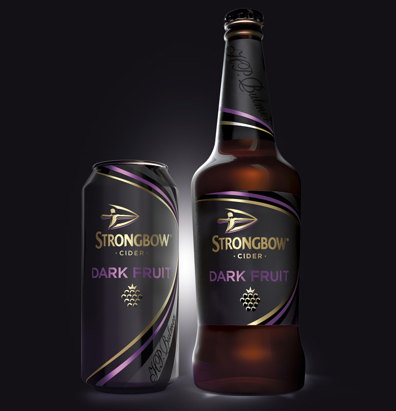 Photo: package design for the new variant of Strongbow cider, developed by Bulletproof