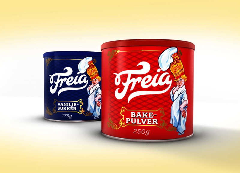 Photo: packaging for the Noorwegian chocolate brand Freia