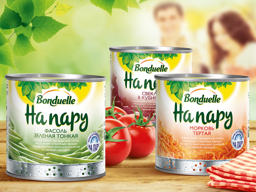 Pic.: Bonduelle,  new range of steamed vegetables
