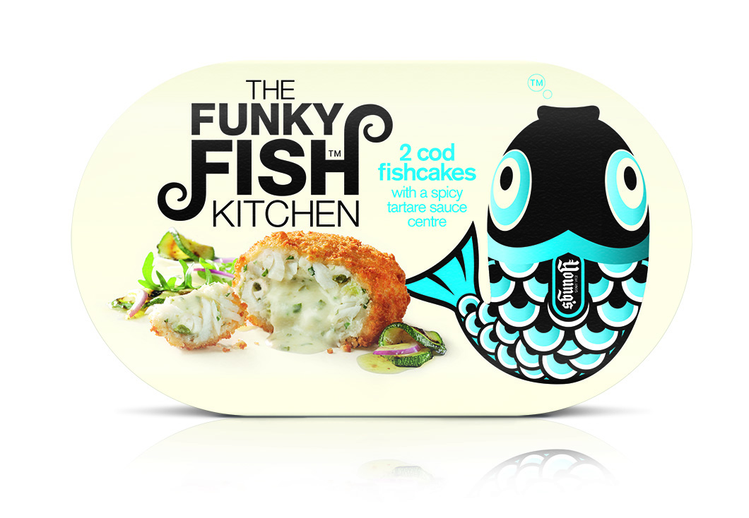 Pic. Packaging and branding for Funky Fish products