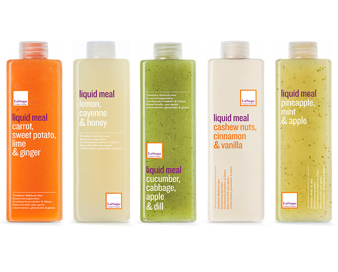 Pic.: Liquid Meals range produced by LaZoupa