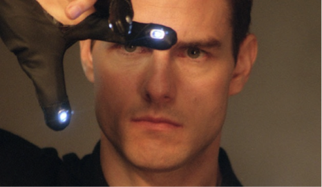 "Photo: a snapshot from the movie ""Minority Report,"" starring tom Cruise"