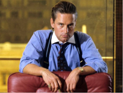"Pic: Michael Douglas portrayed as Gordon Gekko in a sequel ""Wall Street"""