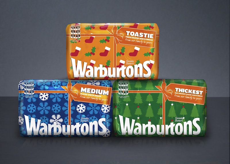 Pic.: Christmas packaging for Warburton's