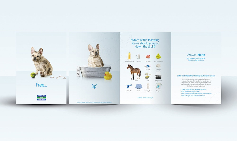 Pic.: Website and collateral marketing materials for Severn Trent Waters