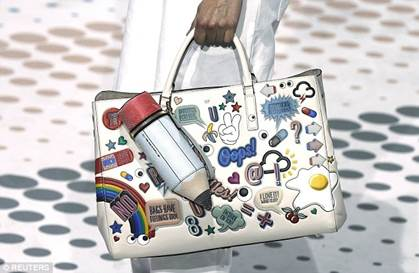 Photo: Anya Hindmarch's collection of bags comes with personalized leather stickers