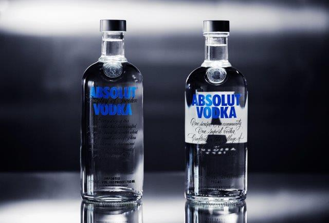 Photo: The old (on the left) and new (on the right) Absolut bottle