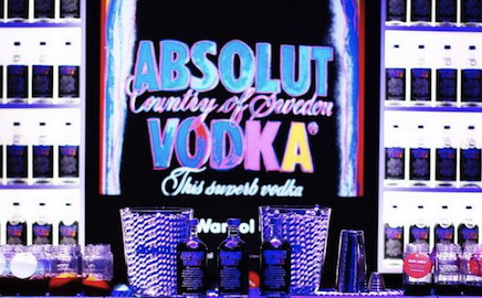 Photo: Absolut Andy Warhol bottle in the night club bar