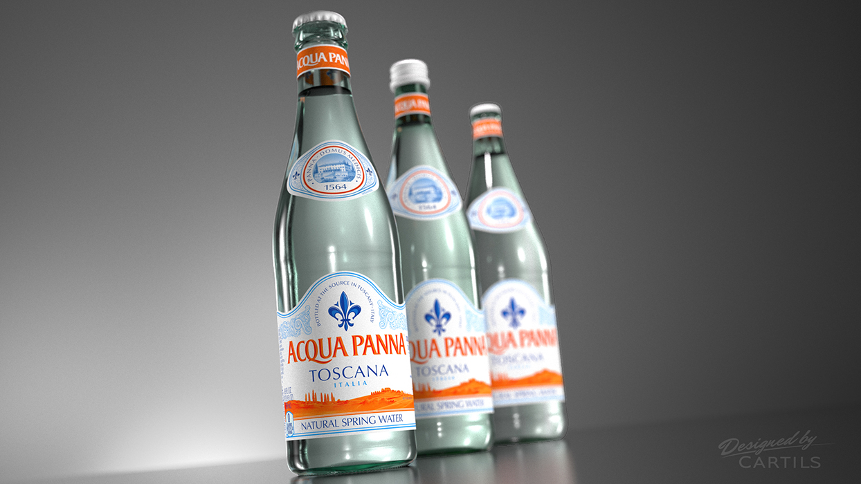 Photo: global redesign for Aqua Panna water