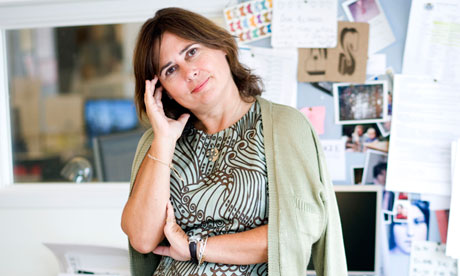 Photo: Alexandra Shulman, the editor of British Vogue, from The Guardian, by Gemma Kappala-Ramsamy