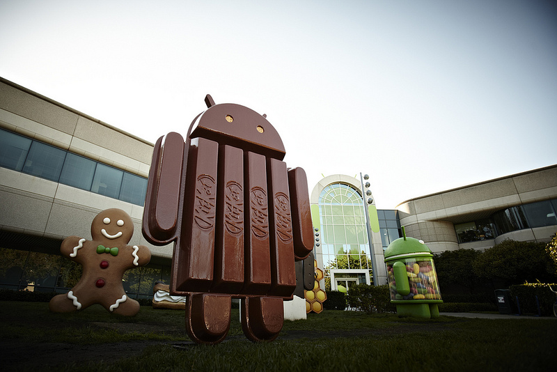 Photo: Android KitKat statue at Google