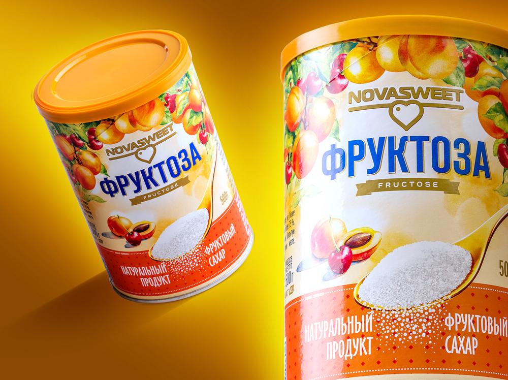 Фото: дизайн упаковки сахарозаменителя Novasweet