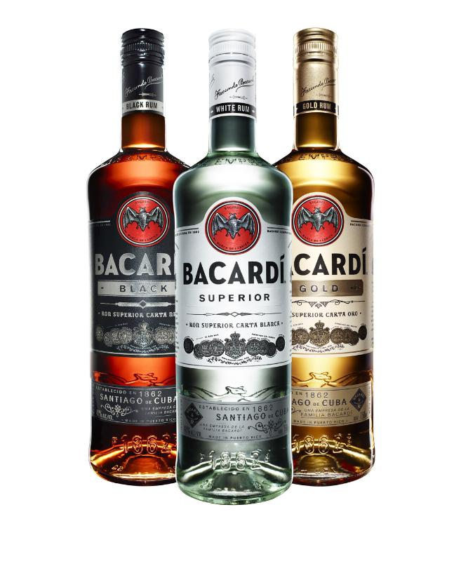 Photo: new Bacardi rum's bottle and logo design, 2015