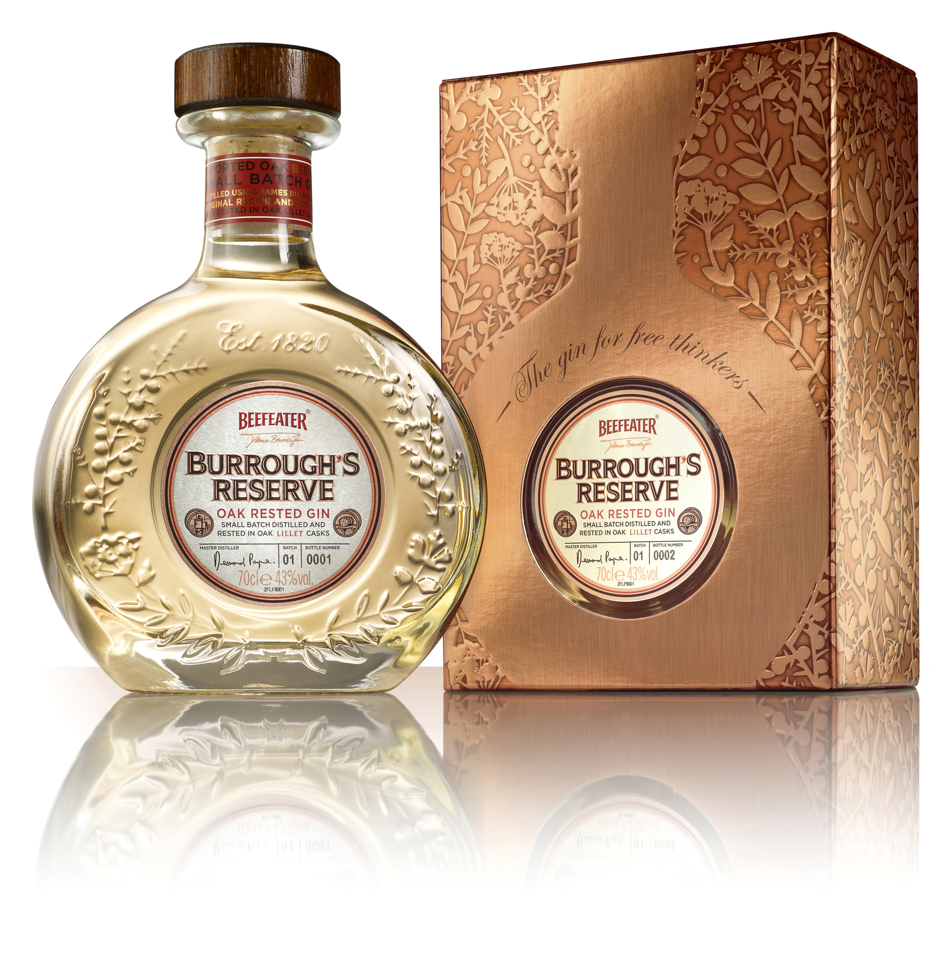 Photo: Beefeater Burrough's Reserve, a bottle and an outer packaging