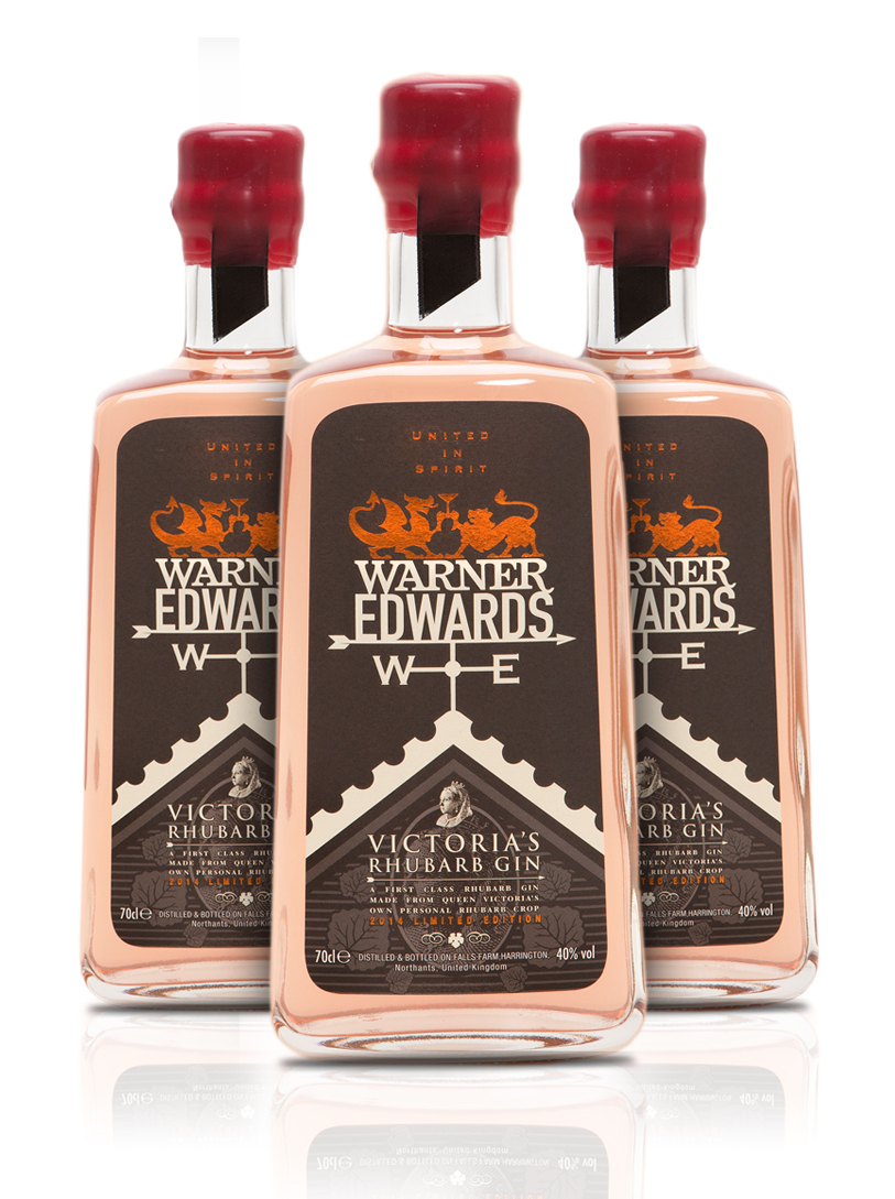 Photo: package design for Victoria's Rhubarb gin