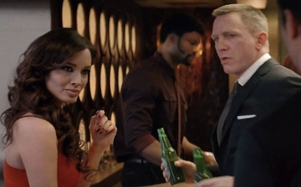 Photo: a snapshot from the Skyfall film about James Bond