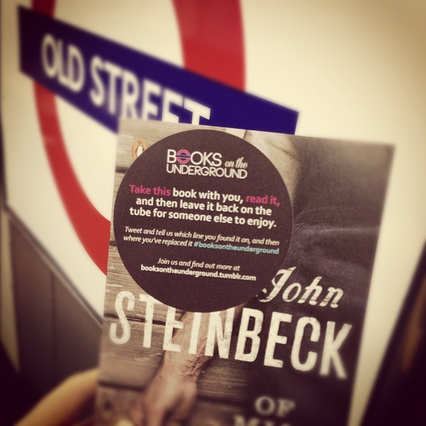 Photo: A book with the Books on the Underground sticker