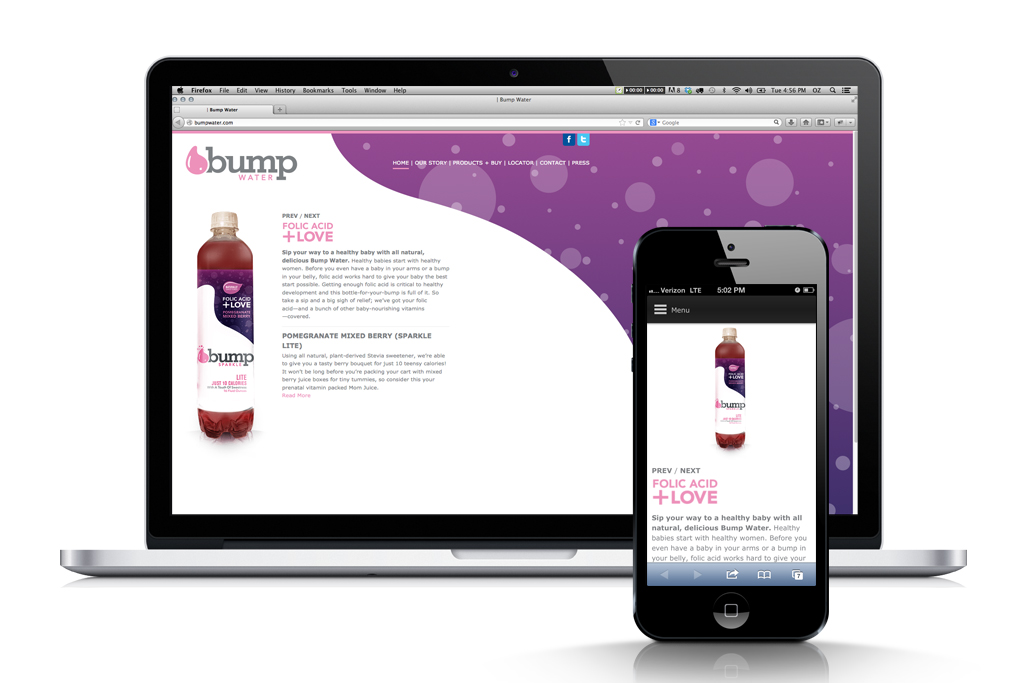 Pic.: Bump Water, packaging and website designs