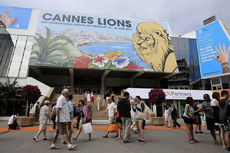 Photo: Cannes Lions Festival 2013, the entrance, Bloomberg