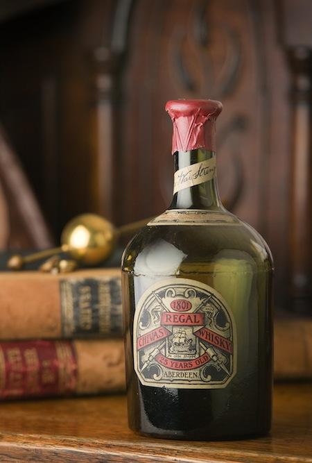 Photo: the original green Chivas Regal bottle, 1909
