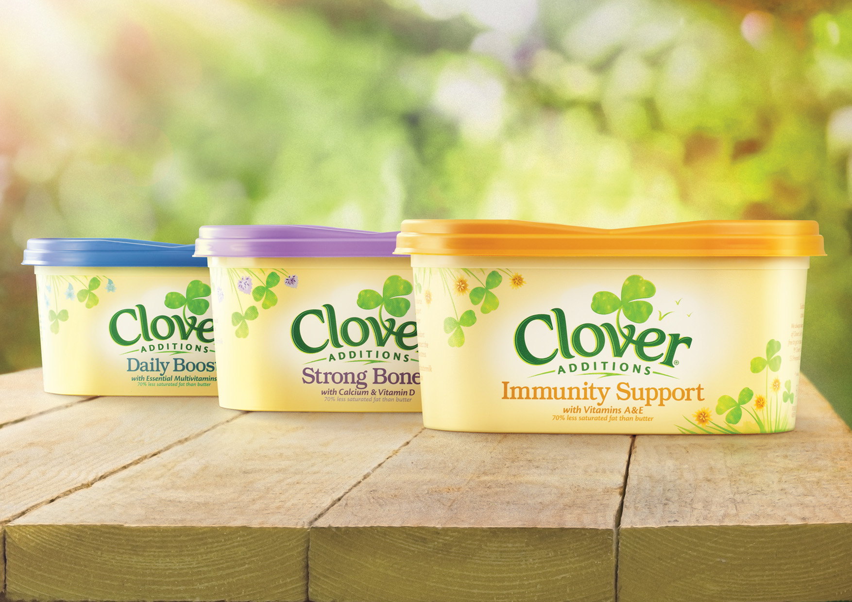 Photo: new Clover visual identity and packaging