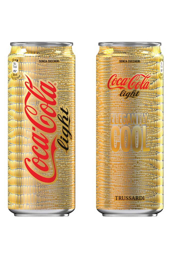 Photo: Coca-Cola Light by Trussardi limited edition packaging, 2015